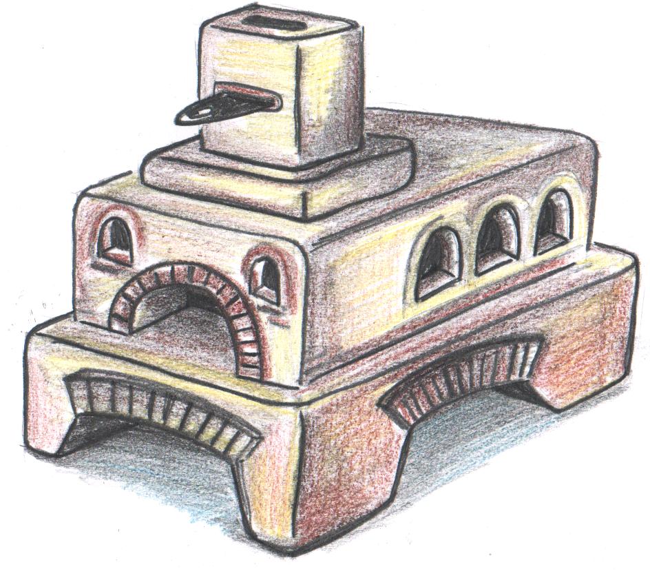Печь кузнецова для бани чертежи 105